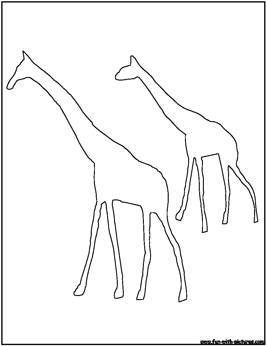 Outline of Giraffe for Preschoolers http://printablecolouringpages.co.uk/?s=animal%20outlines