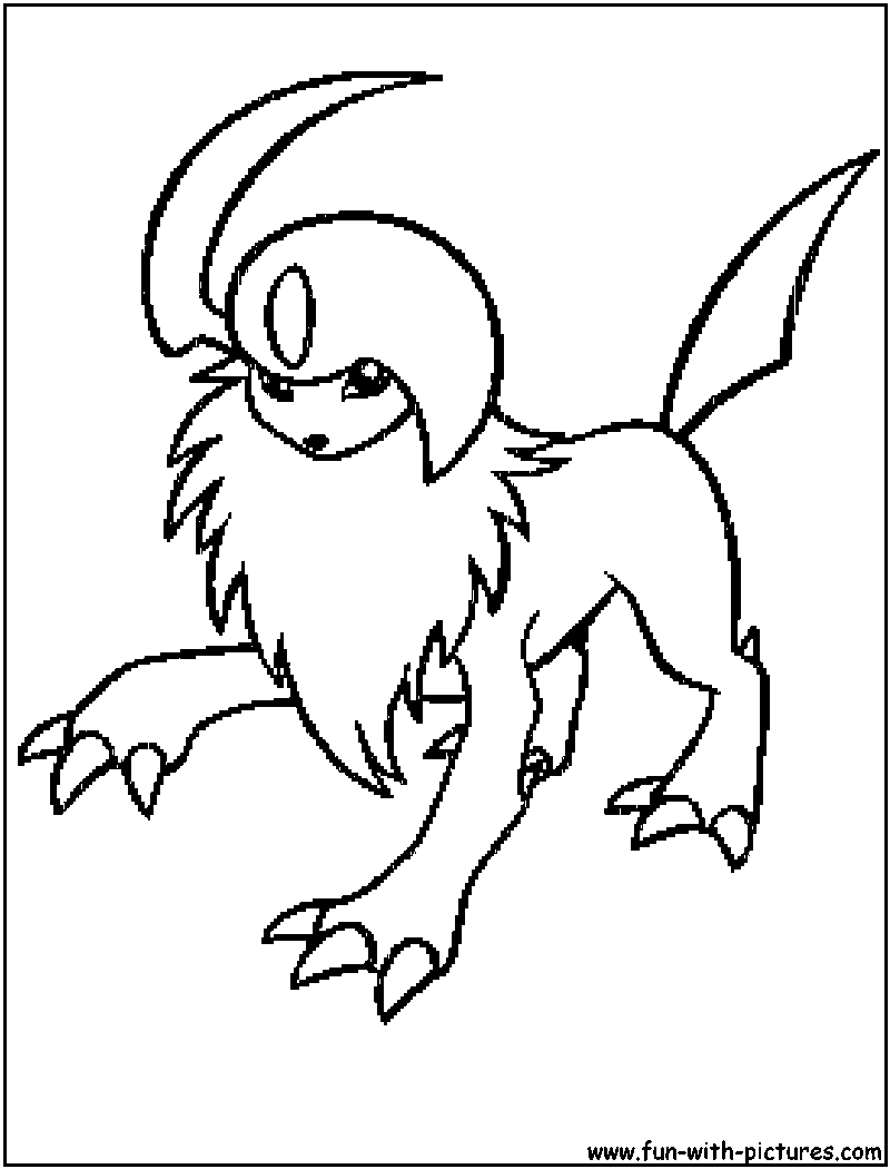 coloring pages absol - photo#5