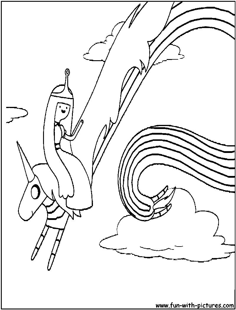 Adventuretime Ladyrainicorn Coloring Page