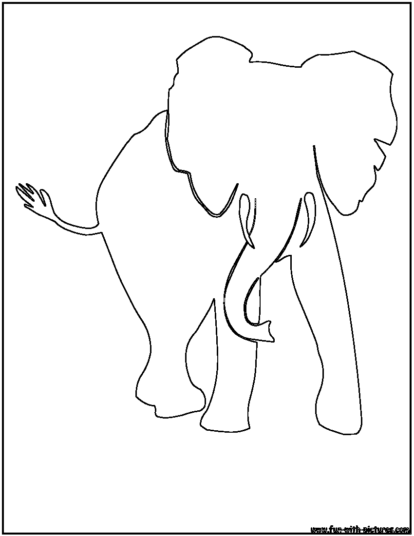 Free Coloring Pages Of African Bush Elephant