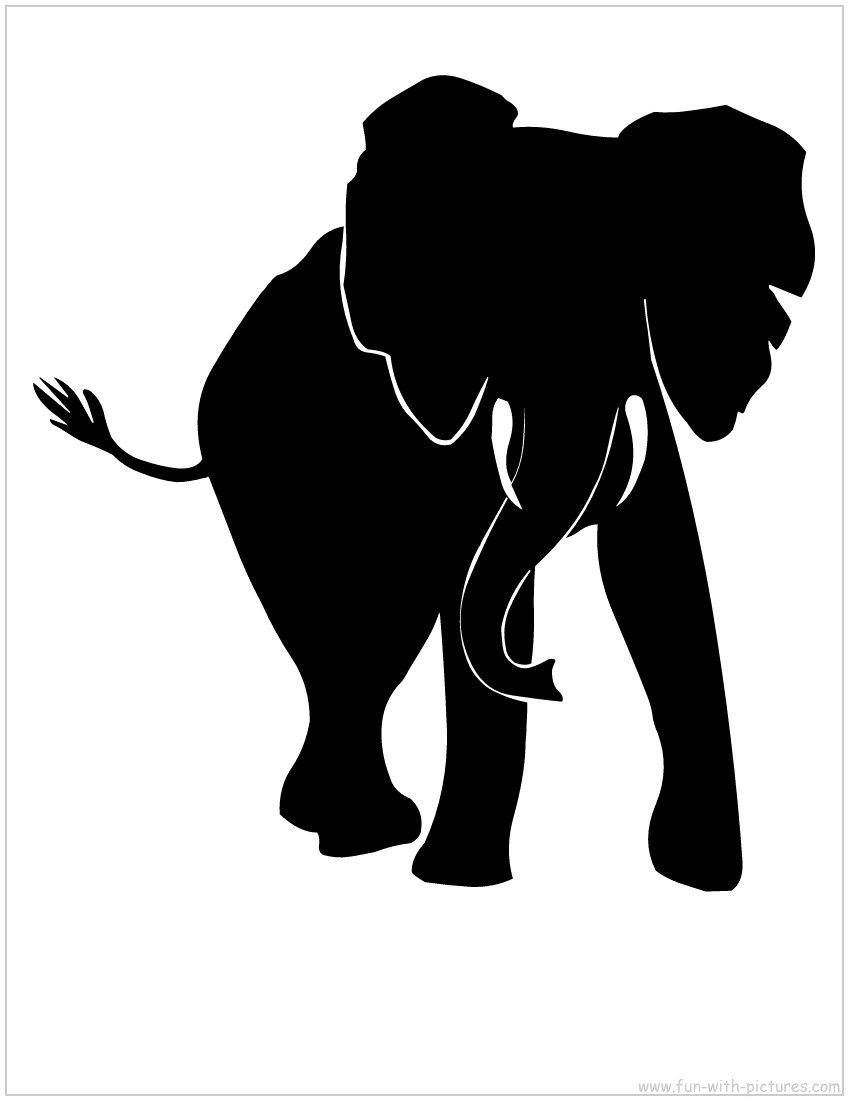 Elephant silhouette - photo#10