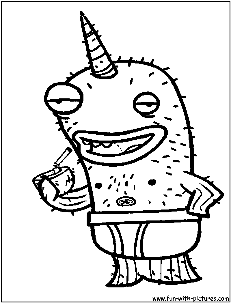 Image of: Pusheen Clipart 4u Almostnakedanimals Narwhal Coloring Page