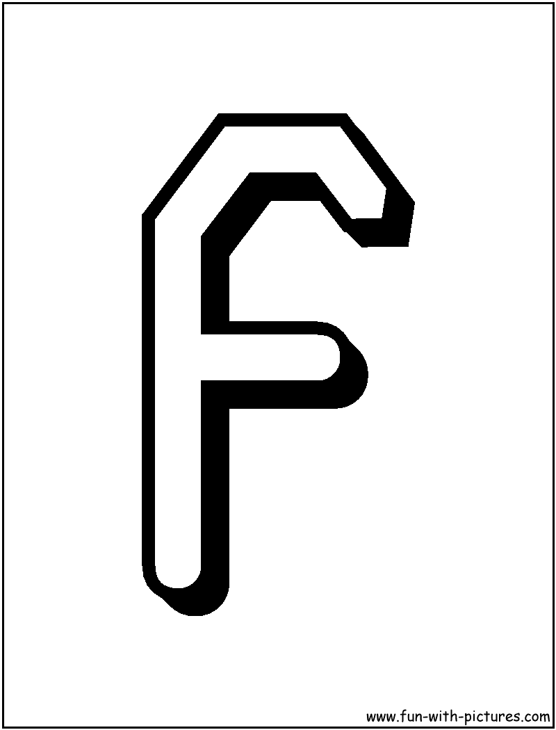 f letter coloring pages - photo #29