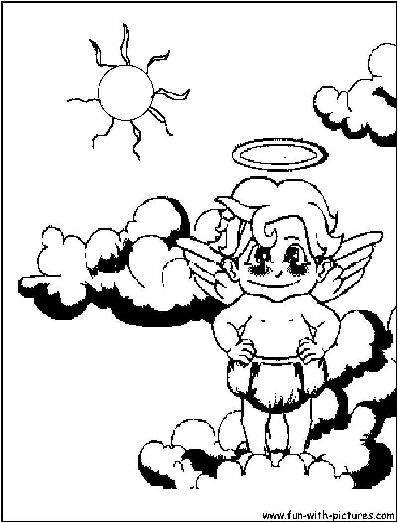 Heart With Angel Wings Coloring Pages Sketch Coloring Page