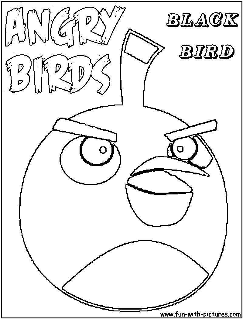 Angrybirds blackbird coloring page