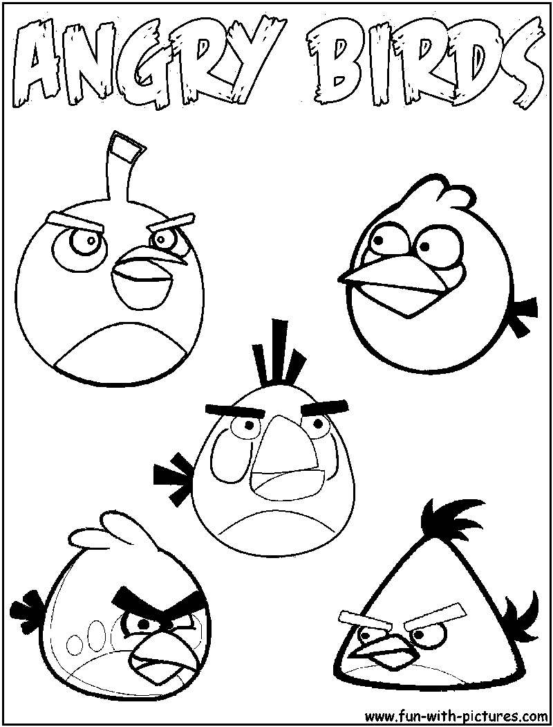Angrybirds Coloring Page