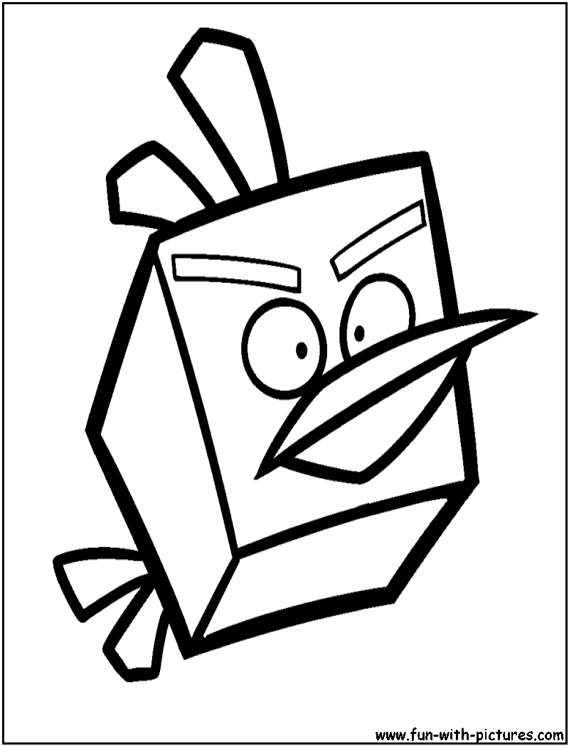Angrybirds Icebird Coloring Page