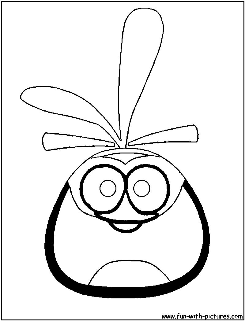 Angrybirds Orangebird Coloring Page