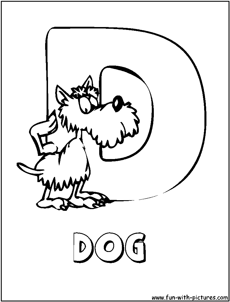 d for dog coloring pages - photo #41