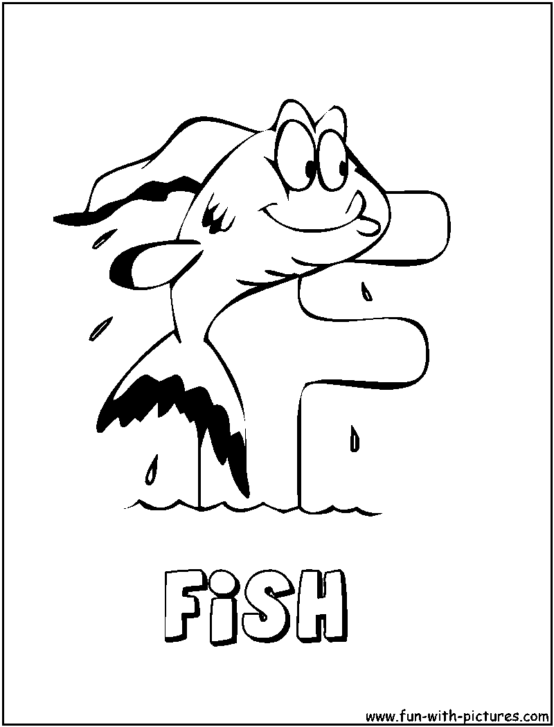 f for fish coloring pages - photo #7
