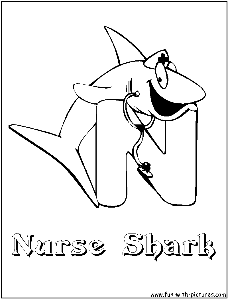 Nurse Shark Pages Coloring Pages