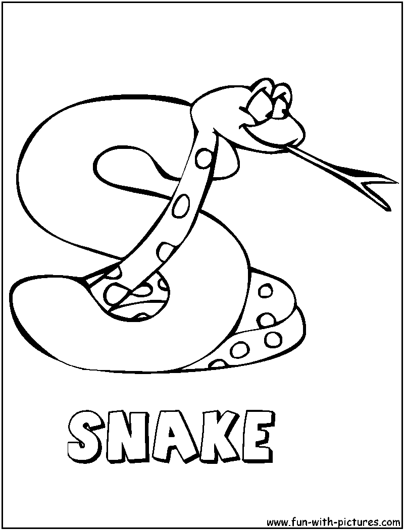 s is for snake coloring pages - photo #3