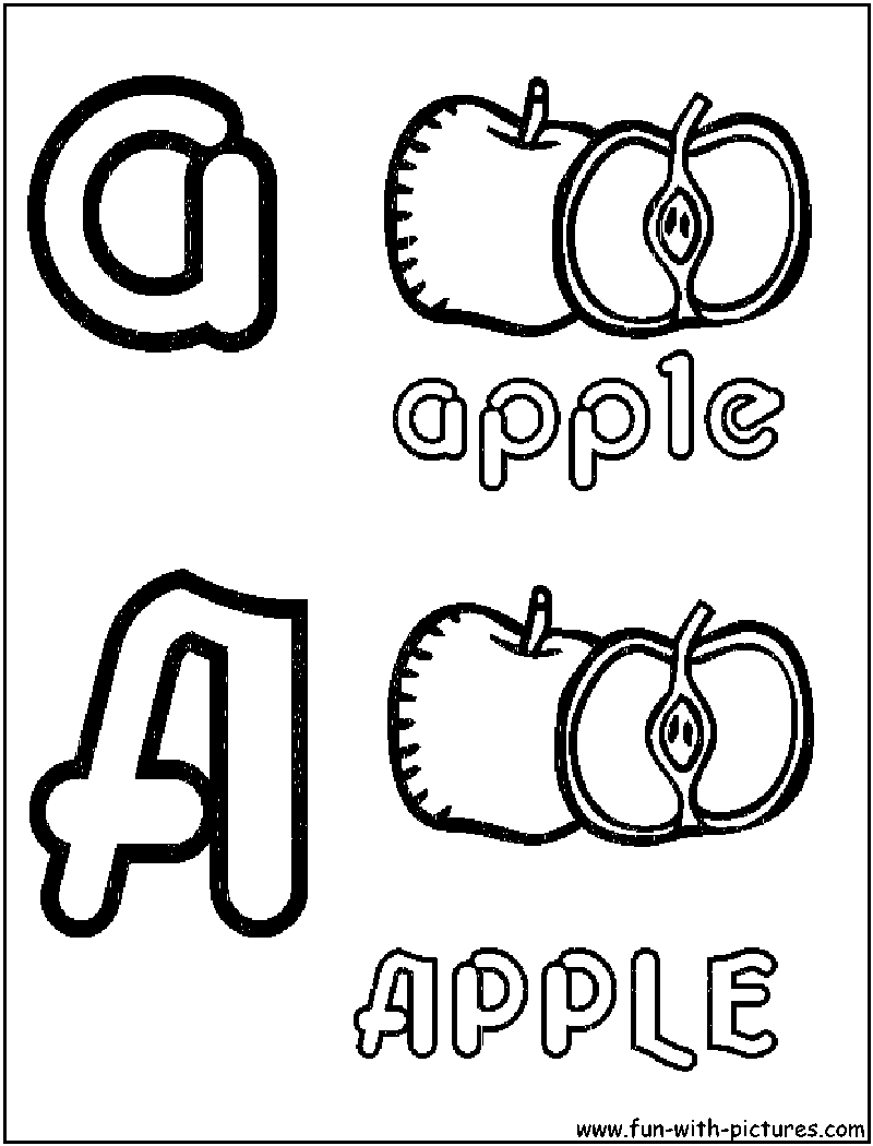 alphabets fruit coloring pages free printable colouring pages