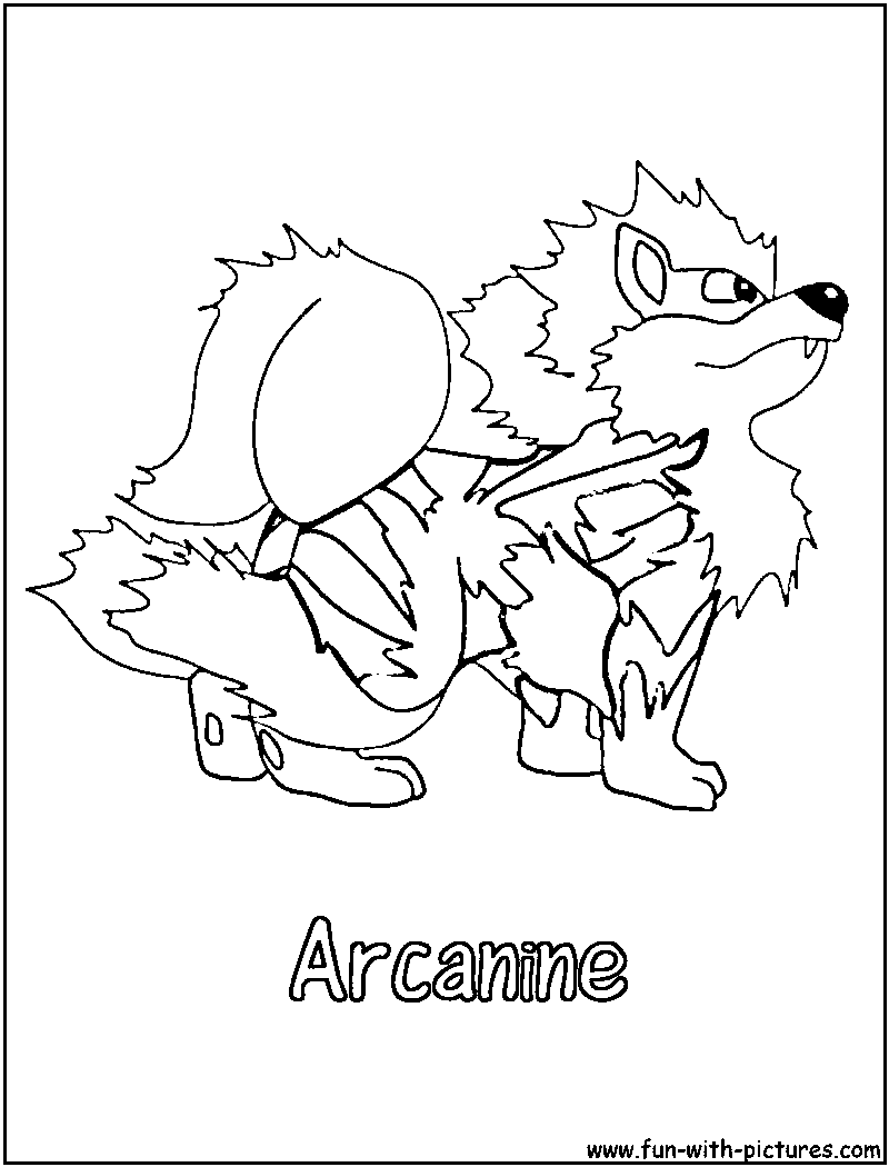 Arcanine Coloring Page Of Pokemon