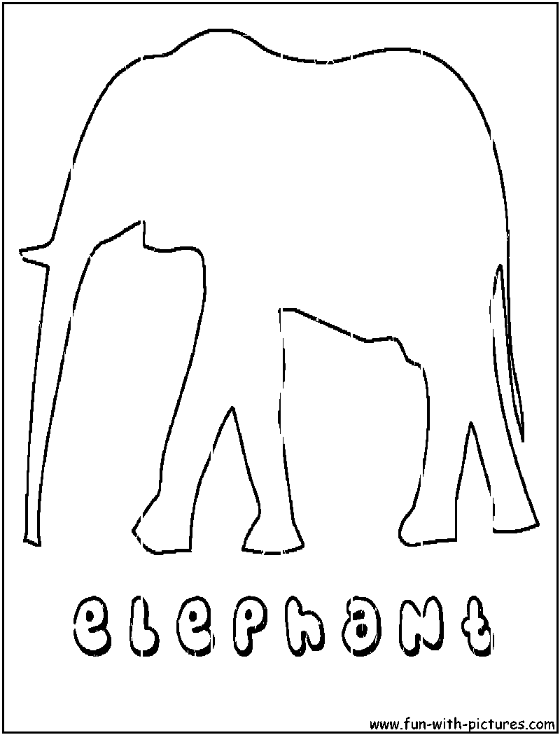 asian elephant coloring page - asian elephant outline coloring page