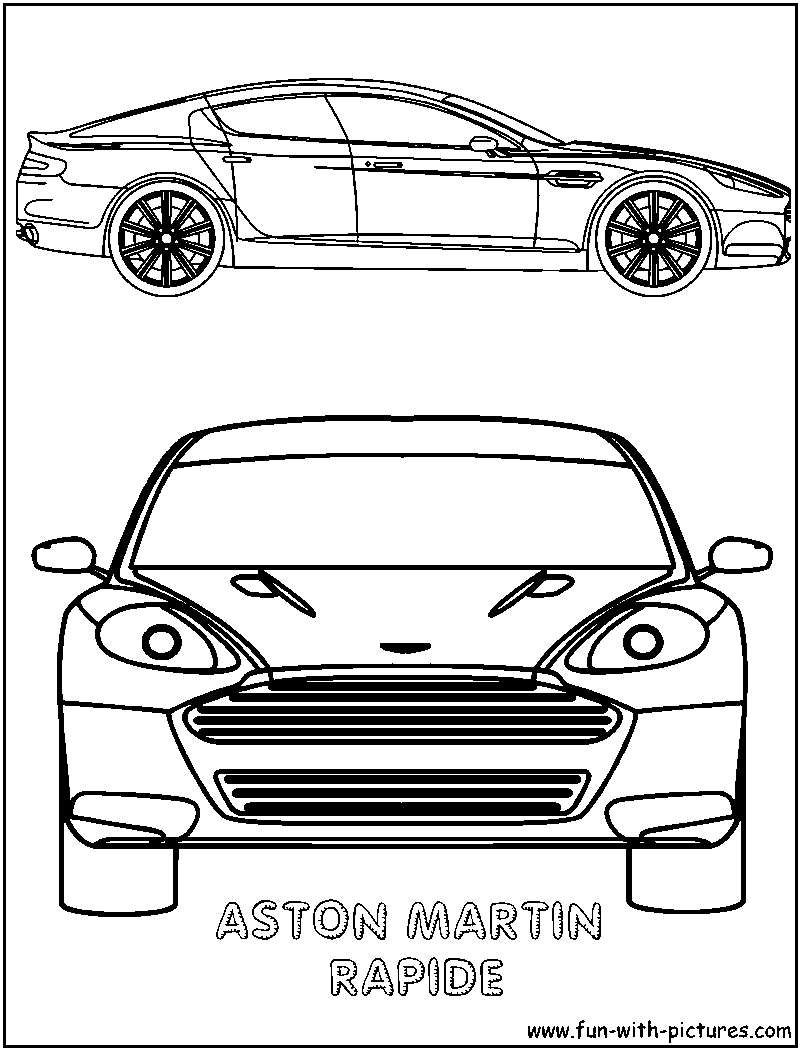coloring pages of aston martins - photo#26