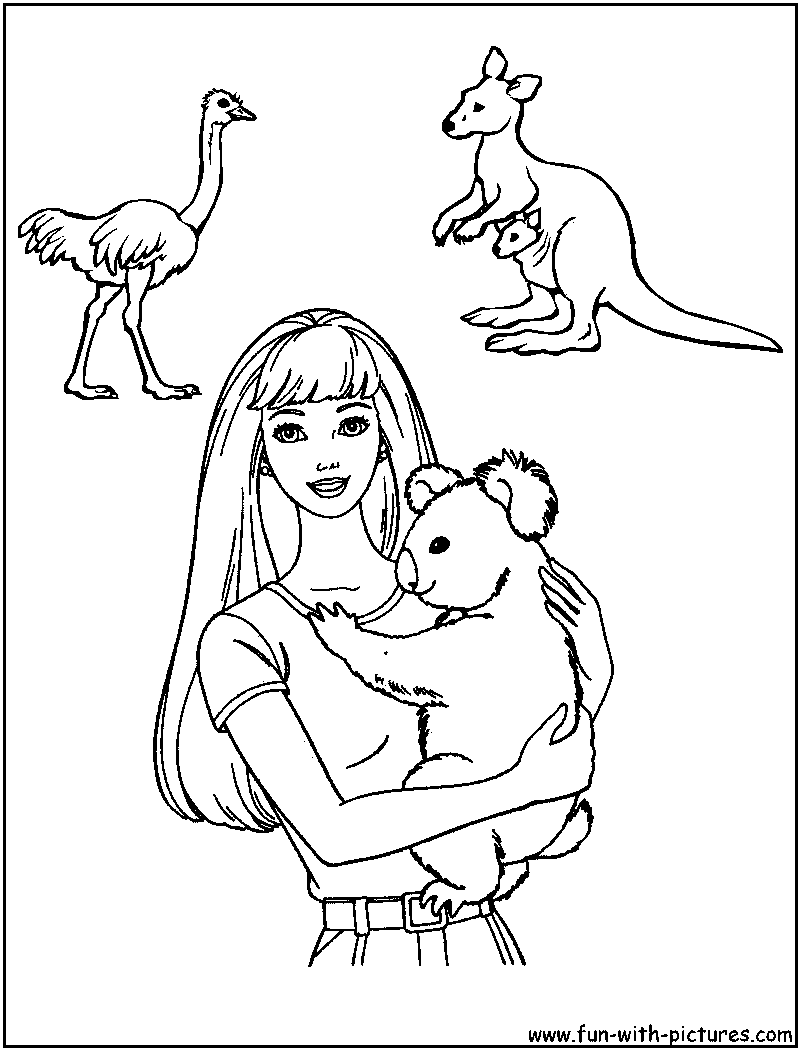 Australia Coloring Pages Kids