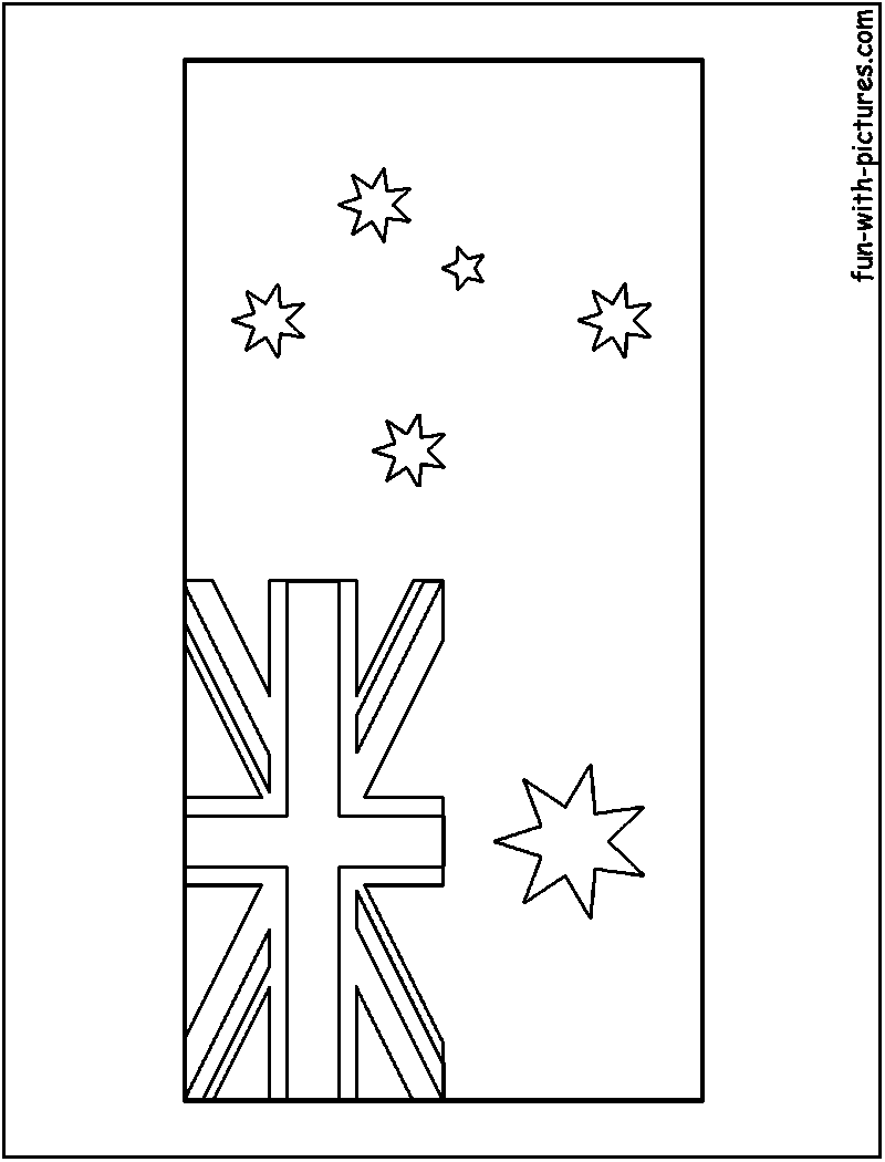 flag of australia coloring page - australian flag coloring sheets driverlayer search engine