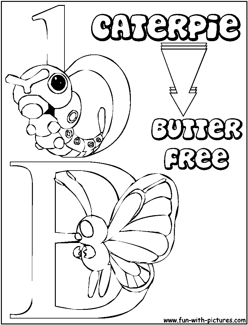 pokemon butter free coloring pages - photo#34