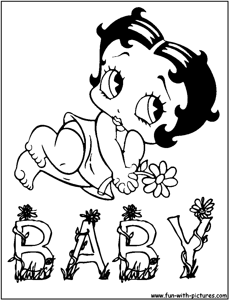 Free betty boop coloring pages to print - Baby Boop Coloring Page