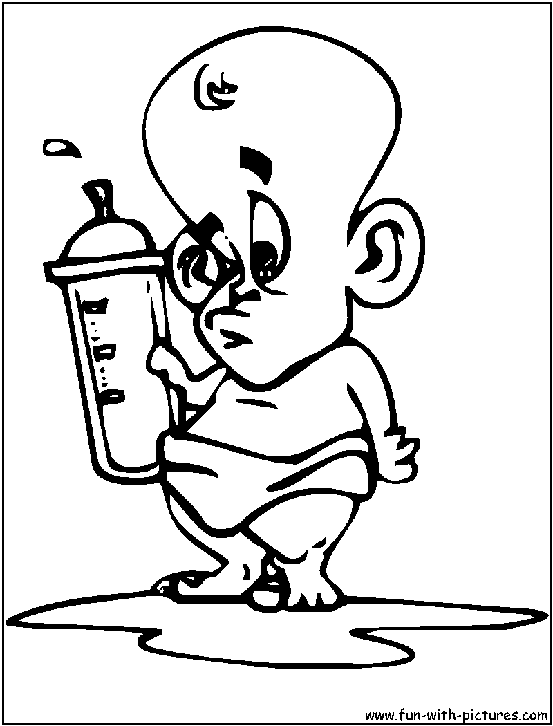 Cartoon baby coloring pages for Baby cartoon coloring pages