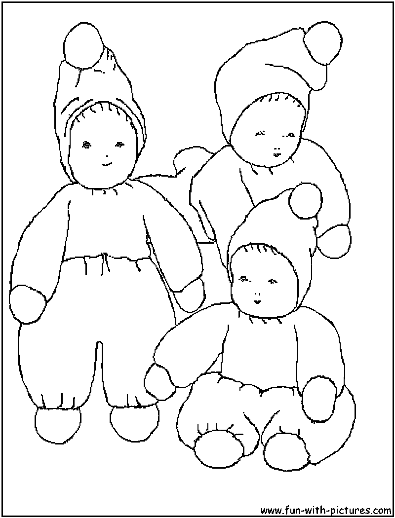 Baby Cartoon Picture Coloring Page3
