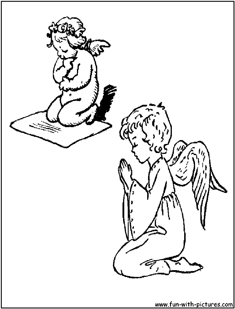 Babyangel Prayers Coloring Page