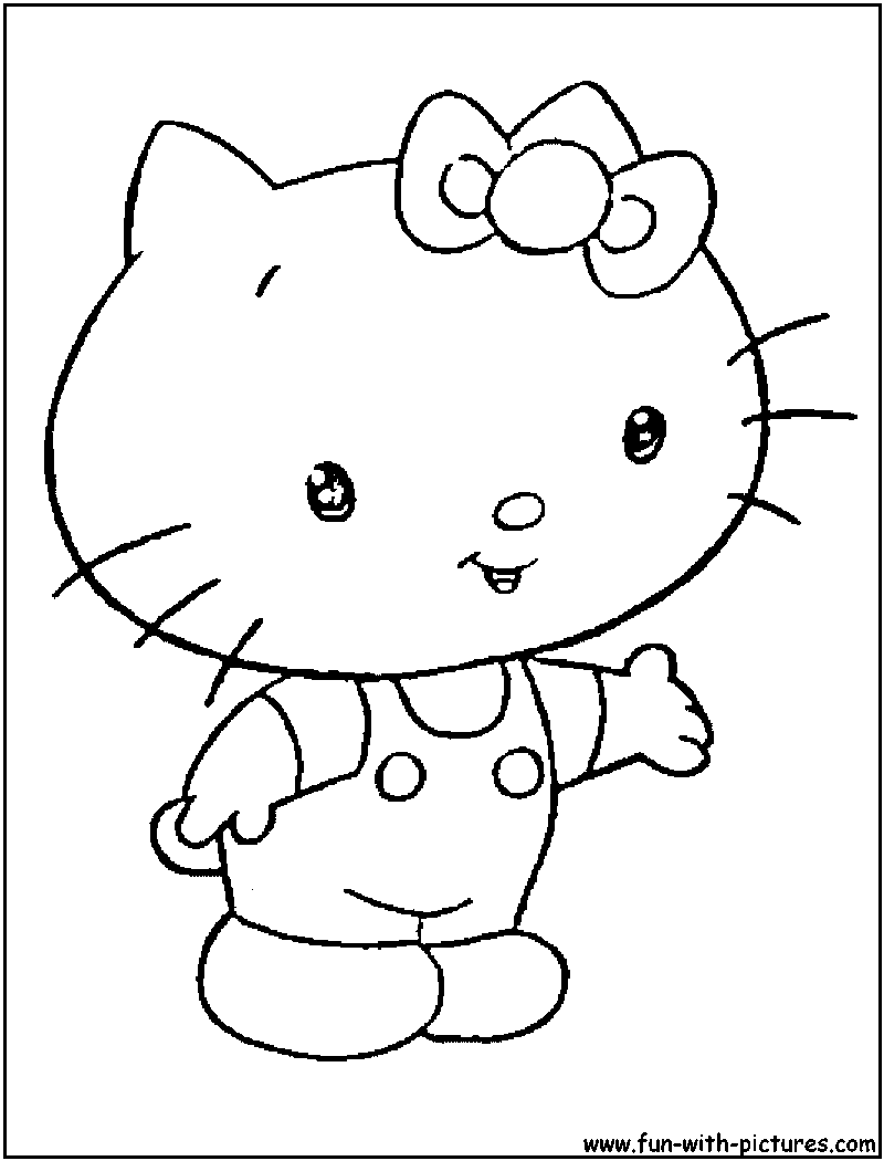 Babyhellokitty Coloring Page