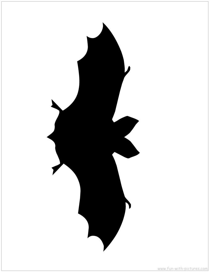 Printable bat silhouette bat silhouette templates pictures to pin on