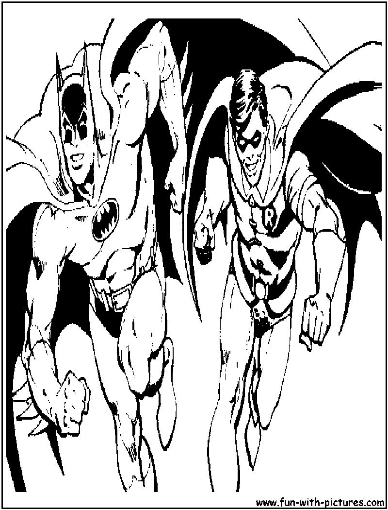Batman And Robin Coloring Page