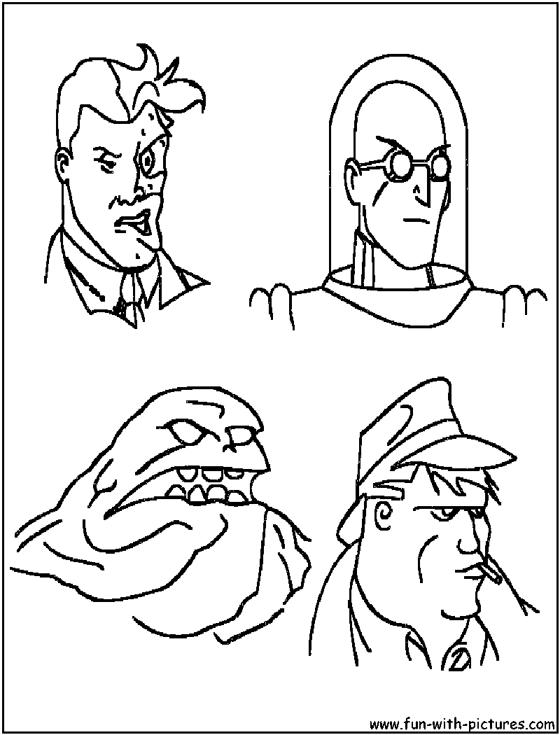 coloring pages batman villains - photo#5
