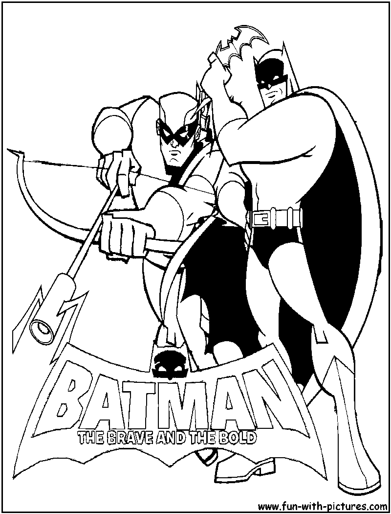 Printable coloring pages batman - Batman Greenarrow Coloring Page