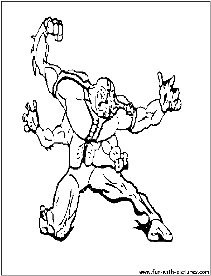Free Ben 10 Rook Coloring Pages