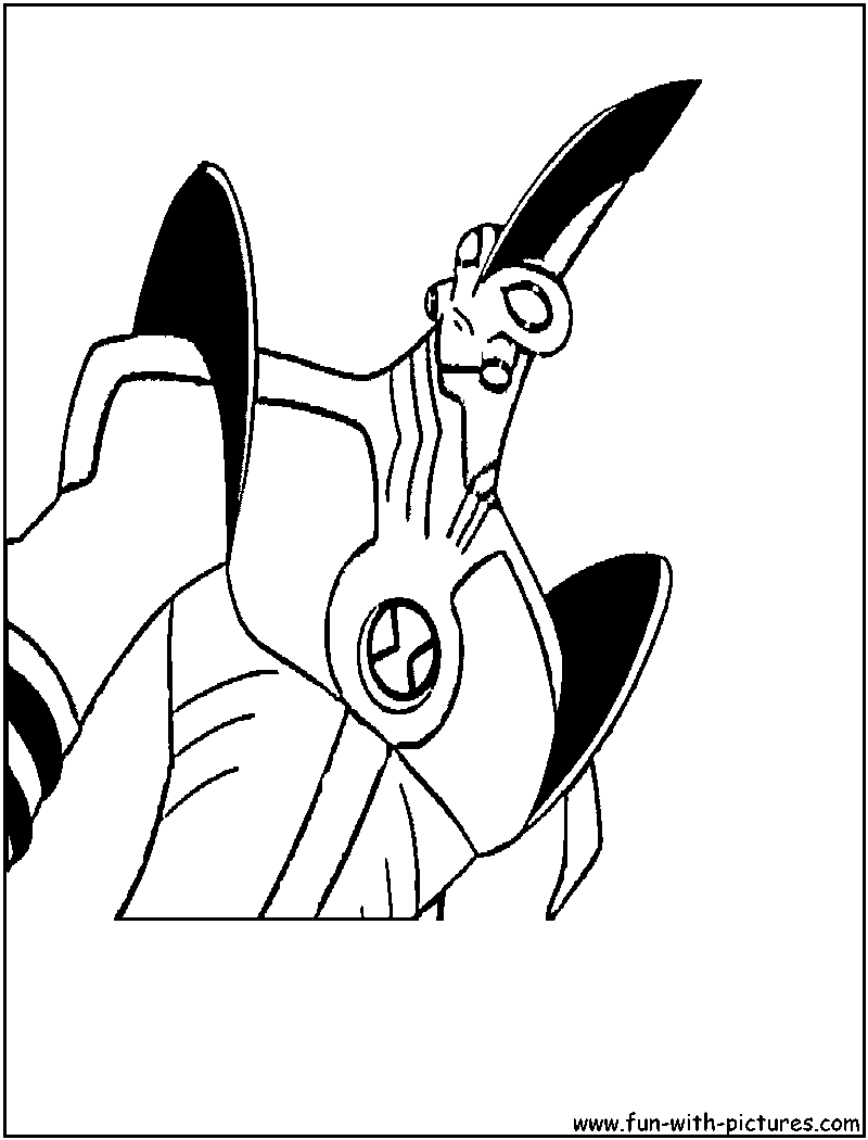 Ben10 Waybig Coloring Page