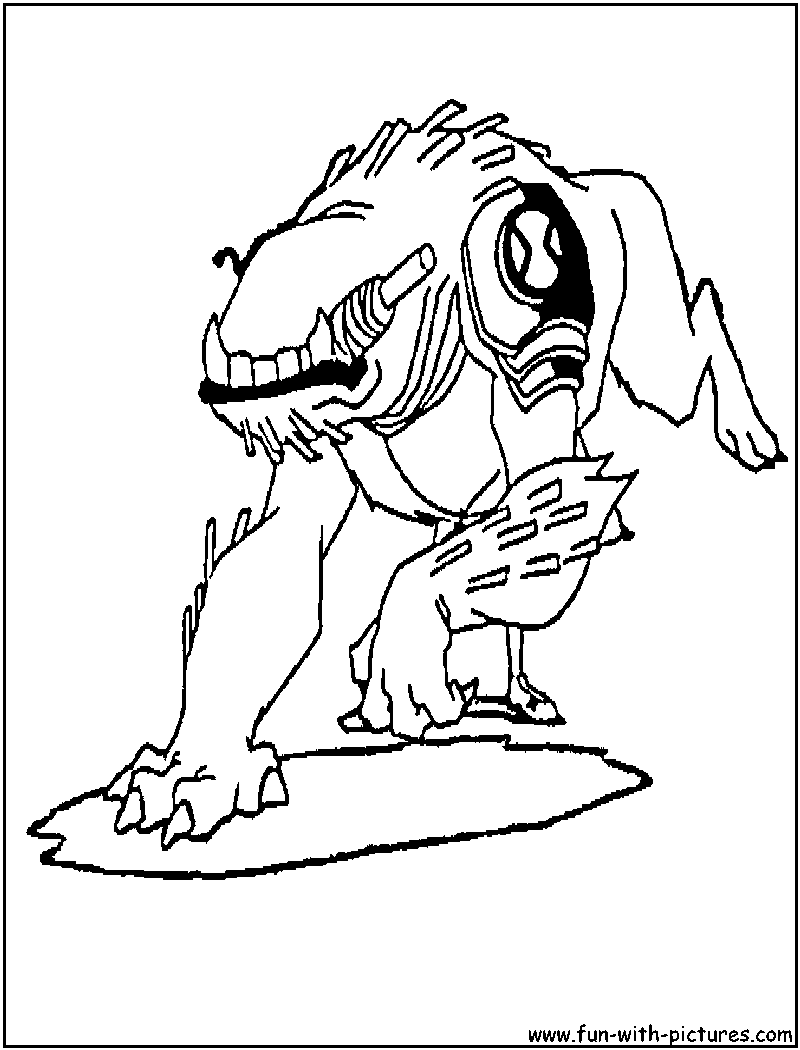 Ben10 Wildmutt Coloring Page