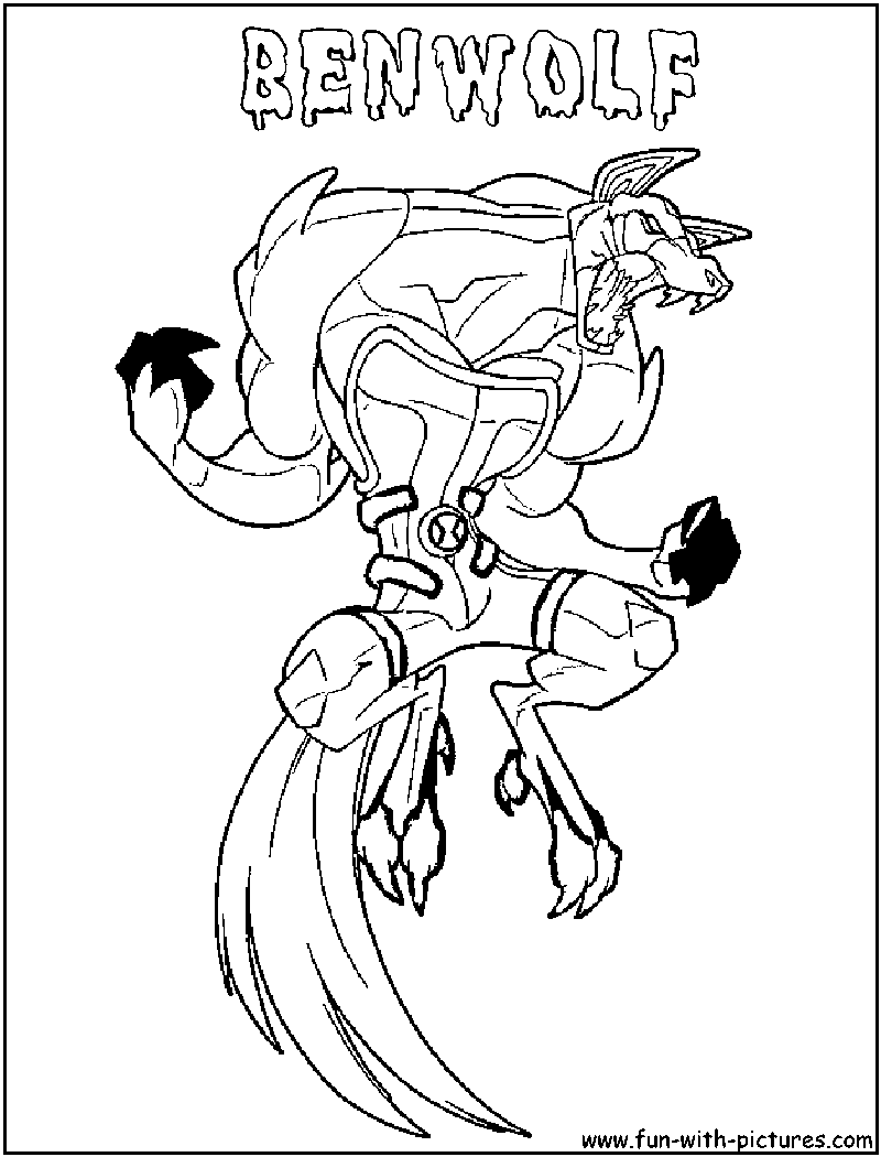 Ben 10 Ben Wolf Coloring Pages Coloring Pages