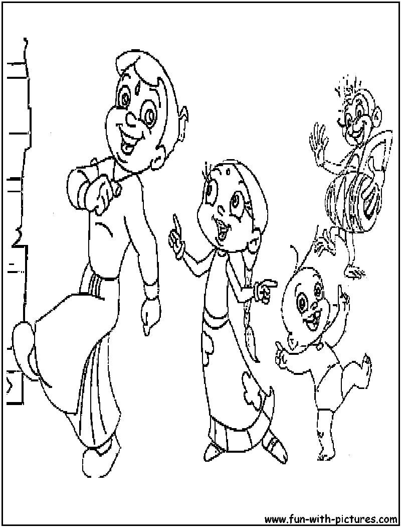 chota bheem team coloring pages - photo#14