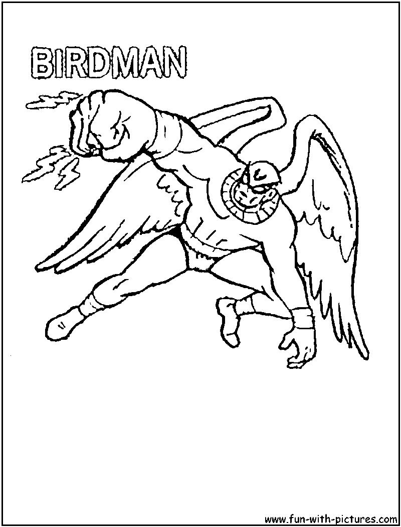 Birdman Coloring Page