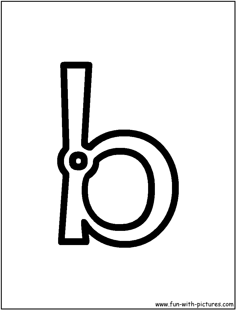 Fancy Letter B Coloring Pages
