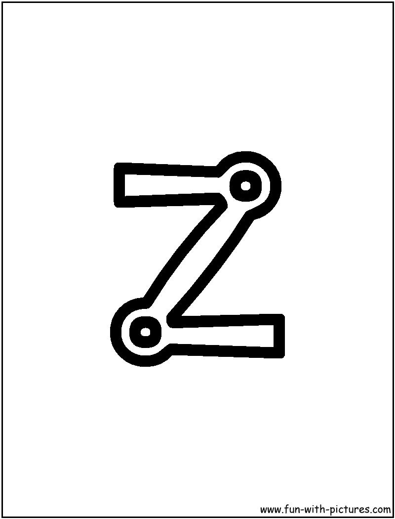 Block Letter Coloring Pages - Free Printable Colouring ...