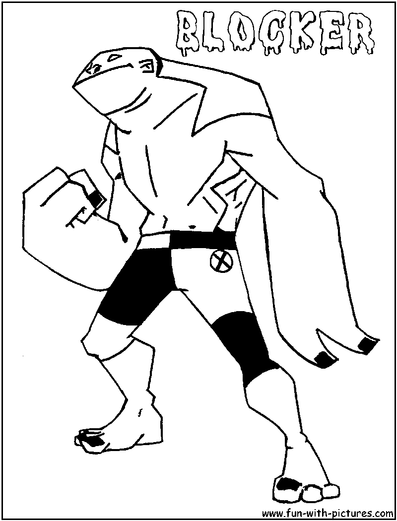 ben 10 coloring pages goop - photo#19