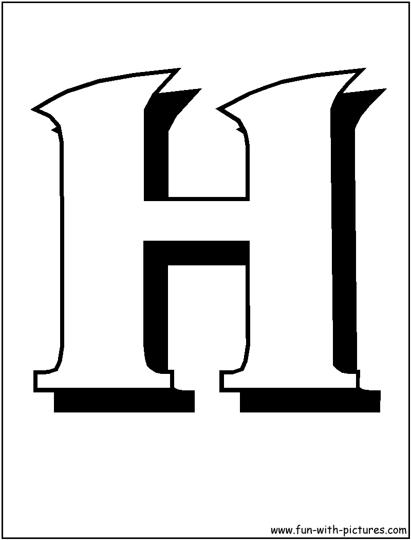 Block Letter Coloring Pages Free