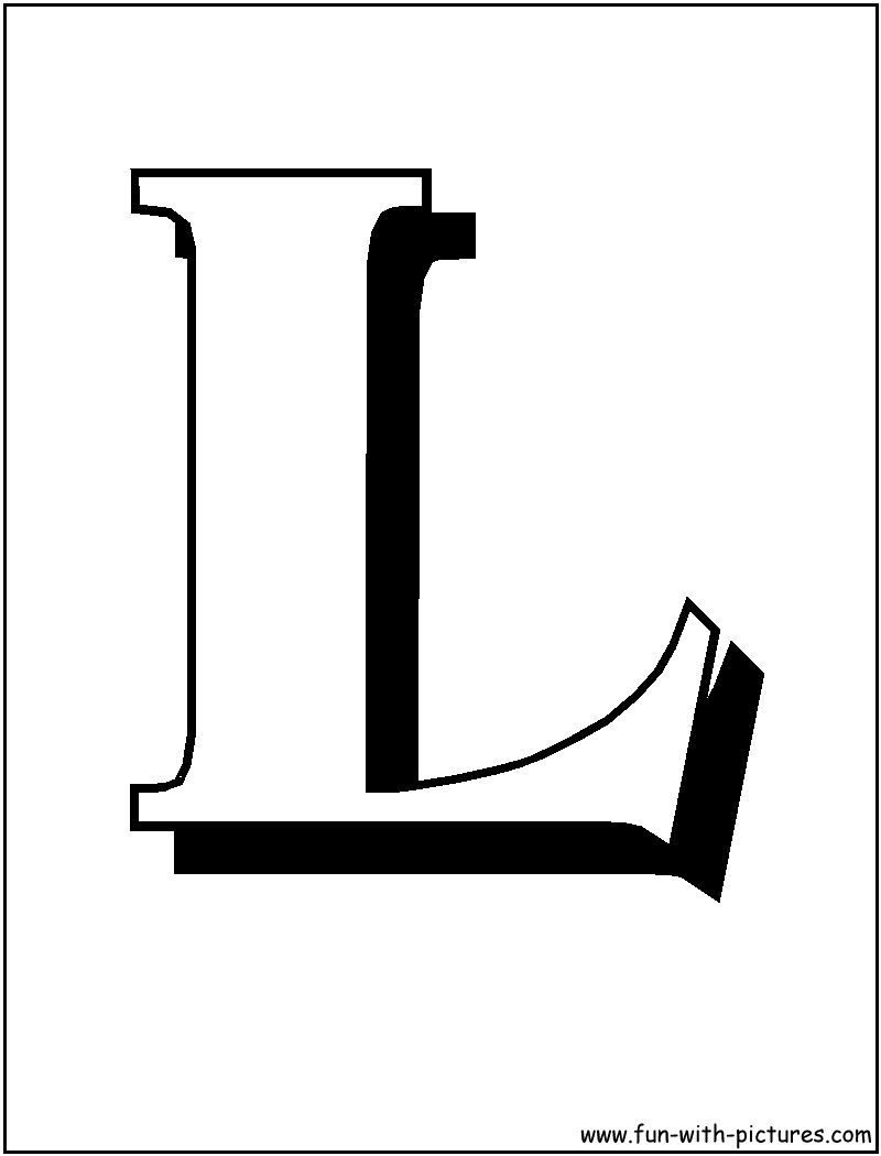 Block Letter Coloring Pages