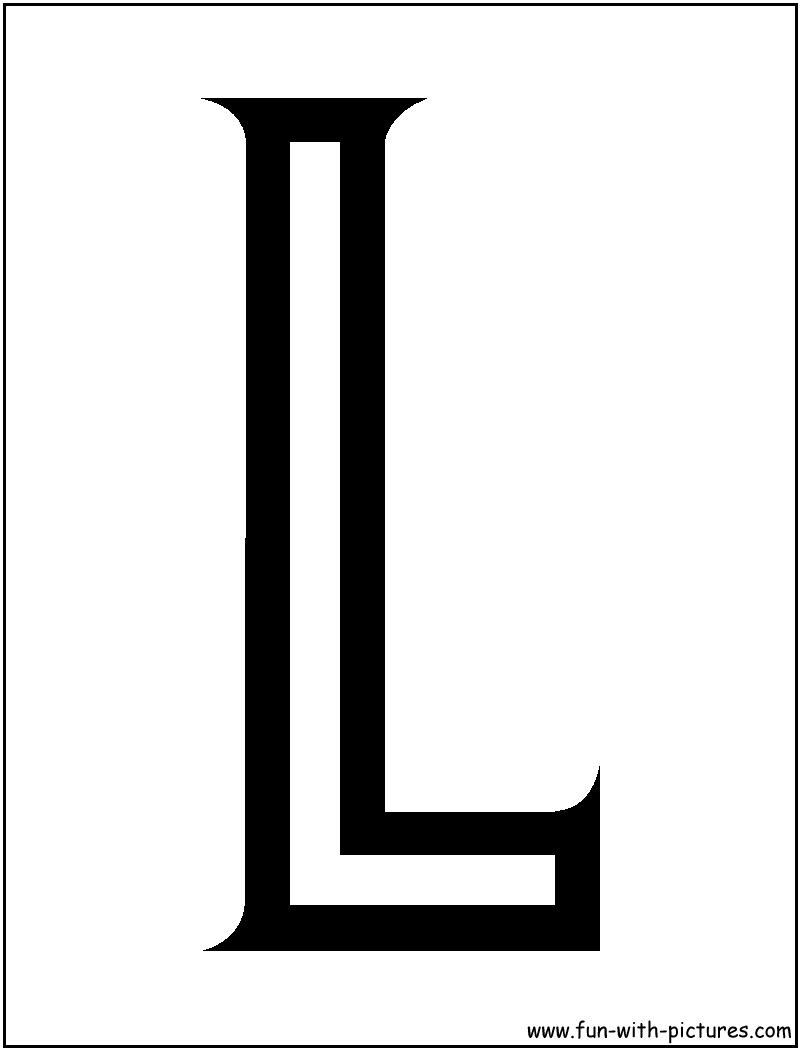Coloring sheets letter l - L Coloring Pages Decimamas
