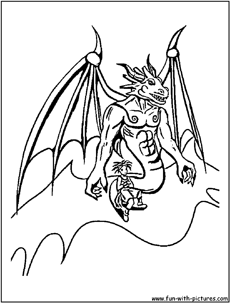Blue Dragon Coloring Page