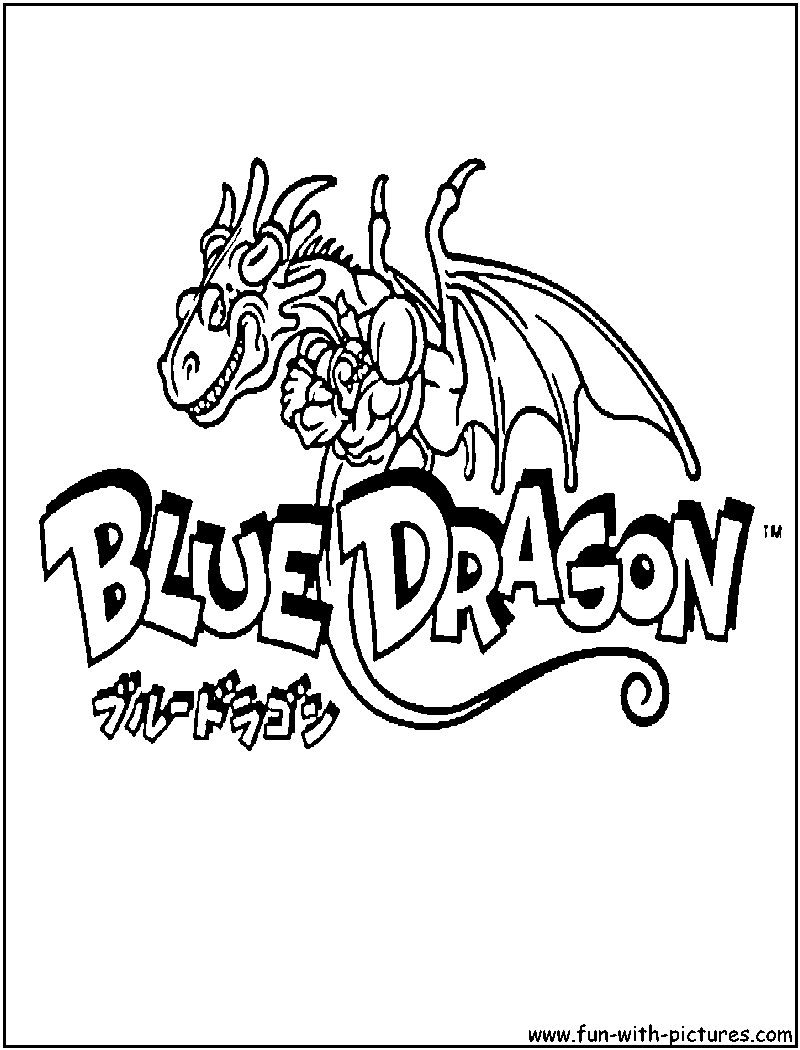 blue dragon coloring pages - photo#32