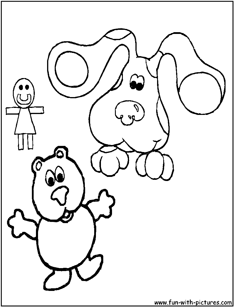Blues clues coloring pages periwinkle