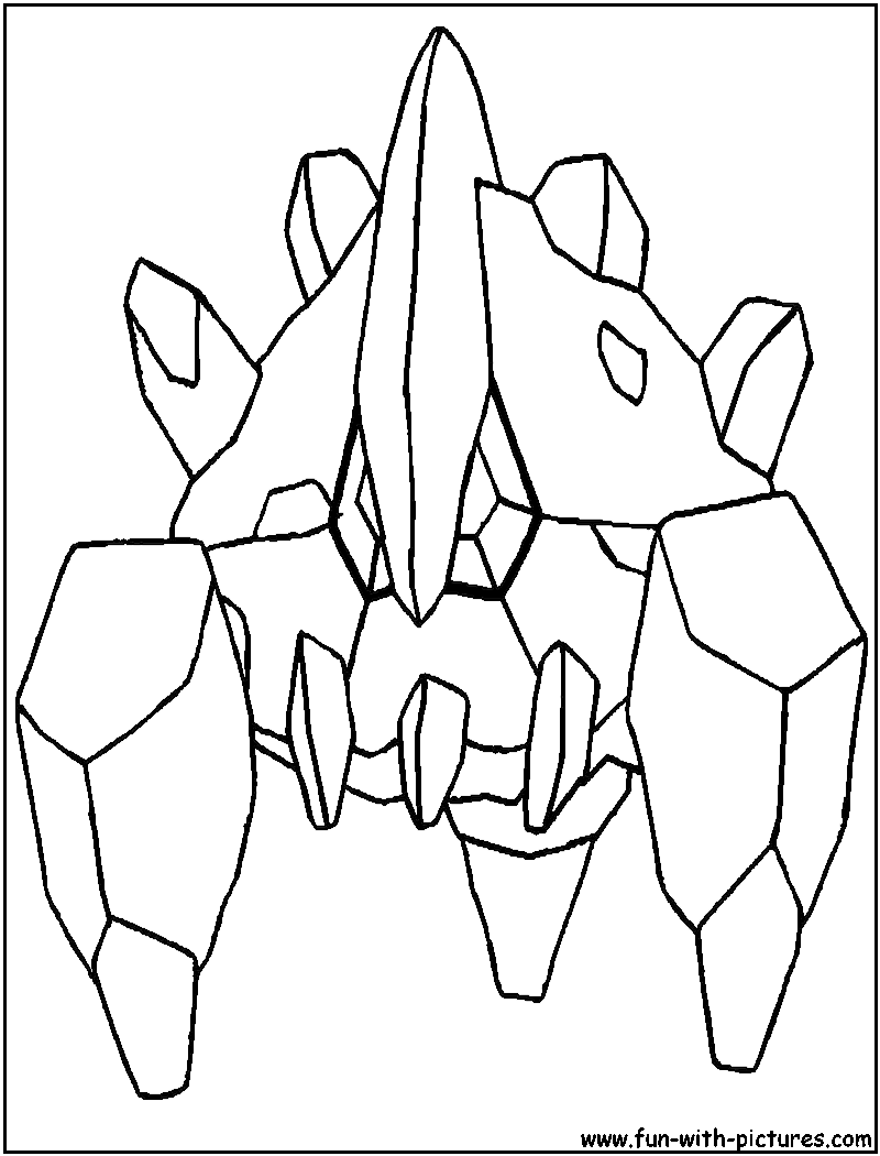 Rock Pokemon Coloring Pages Coloring