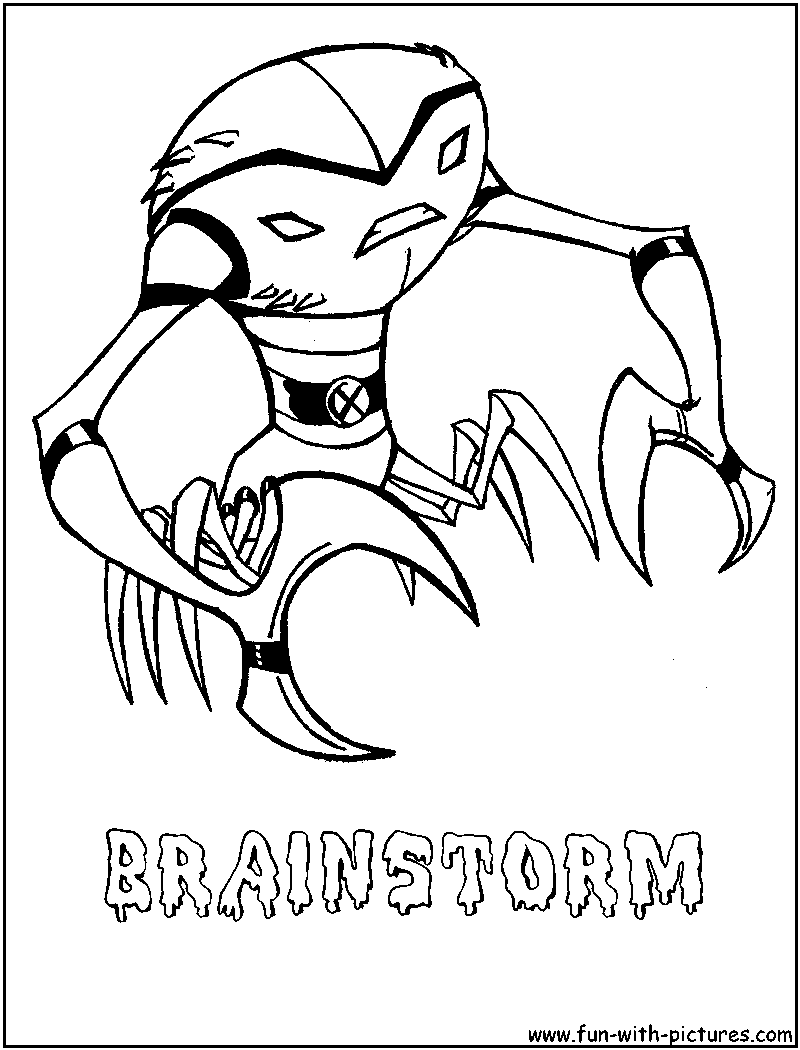 Brainstorm Coloring Page
