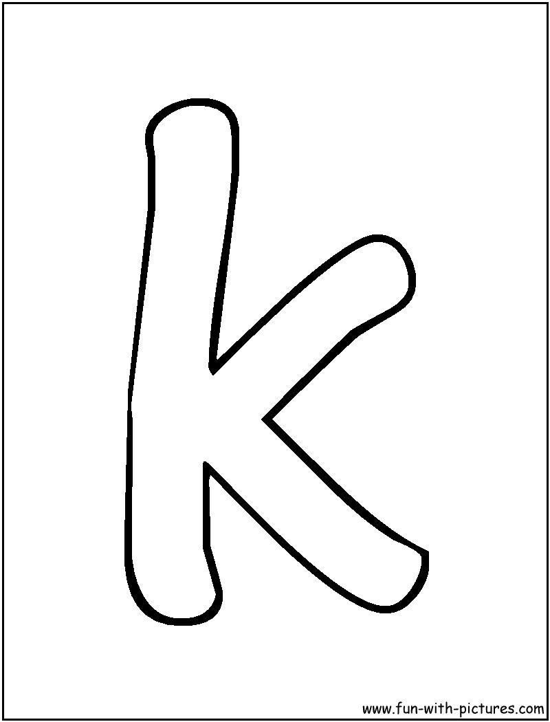 bubble letter k coloring page